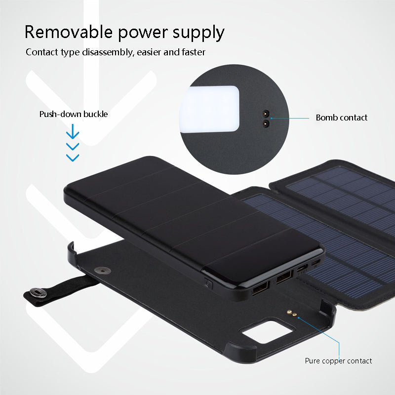 2018 High quality20000mAh Solar Power Bank Waterproof Solar Charger External Battery Backup Pack for Cell for  Phone Tablets11