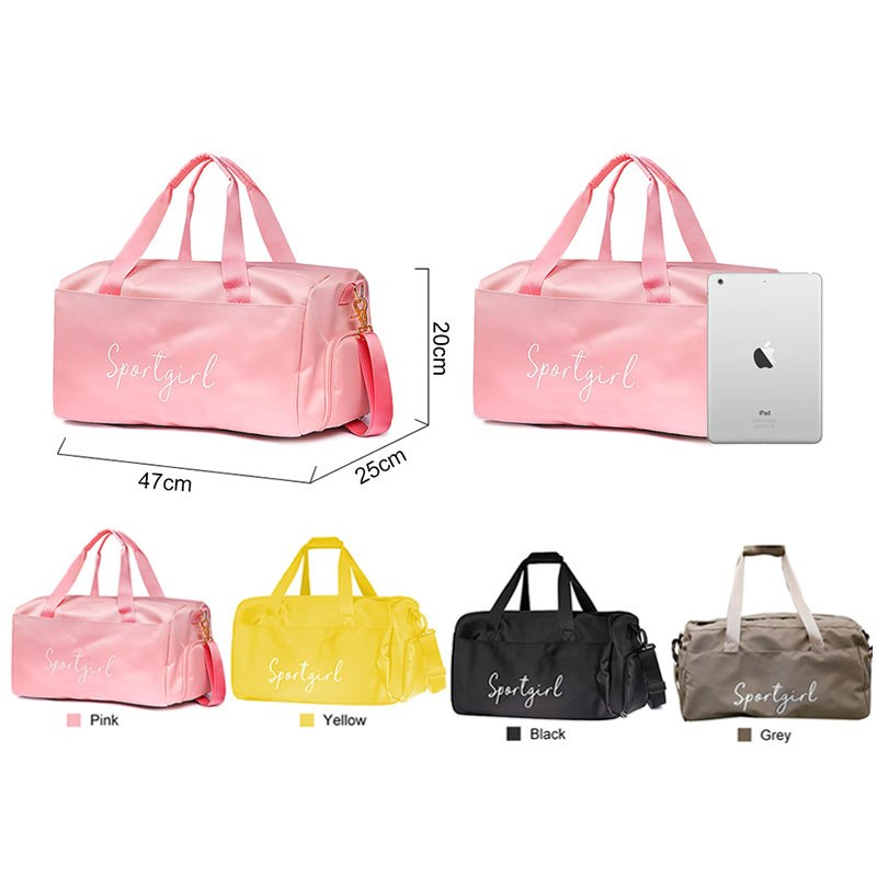 Yoga Fitness Gym bag sac de sport bags Dry Wet Handbags Swimming For Women Shoes Tas Travel Training Waterproof Pink XA536WA