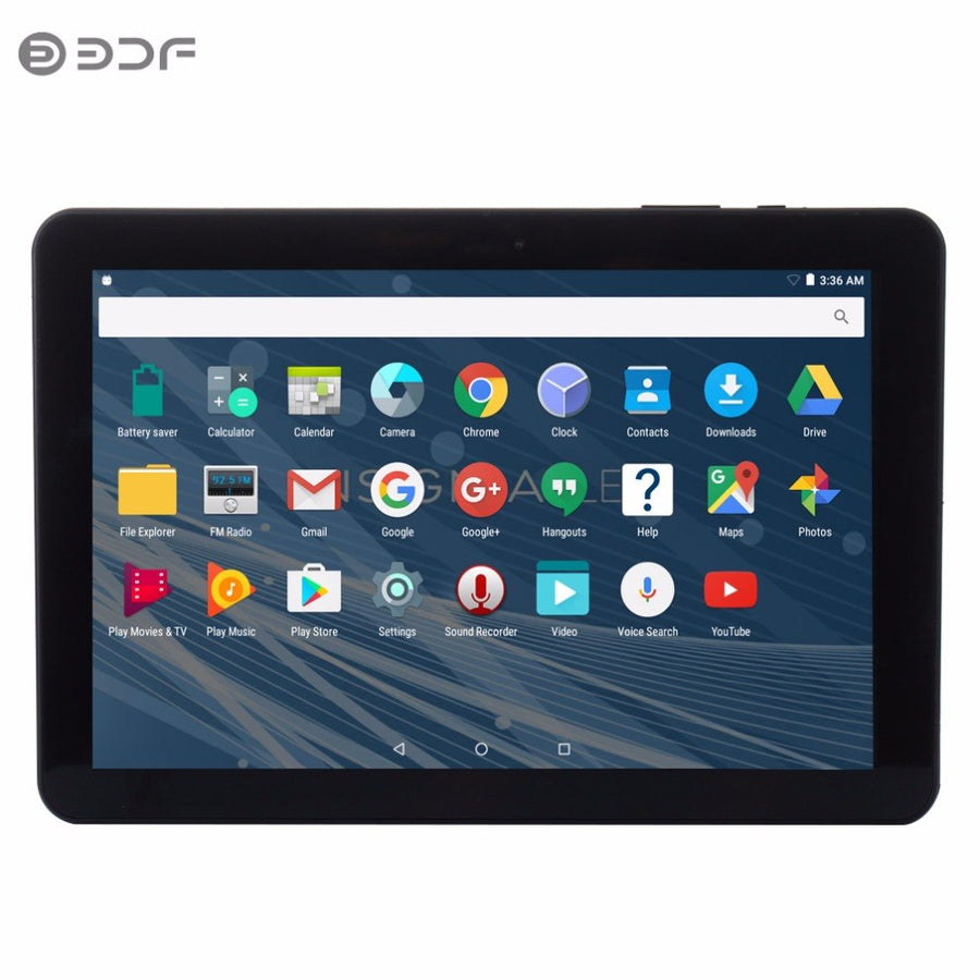 New Design 10 inch Android 6.0 uad Core Tablets Pc 1GB 32GB  ips Definition LCD Dual camera support Google Market