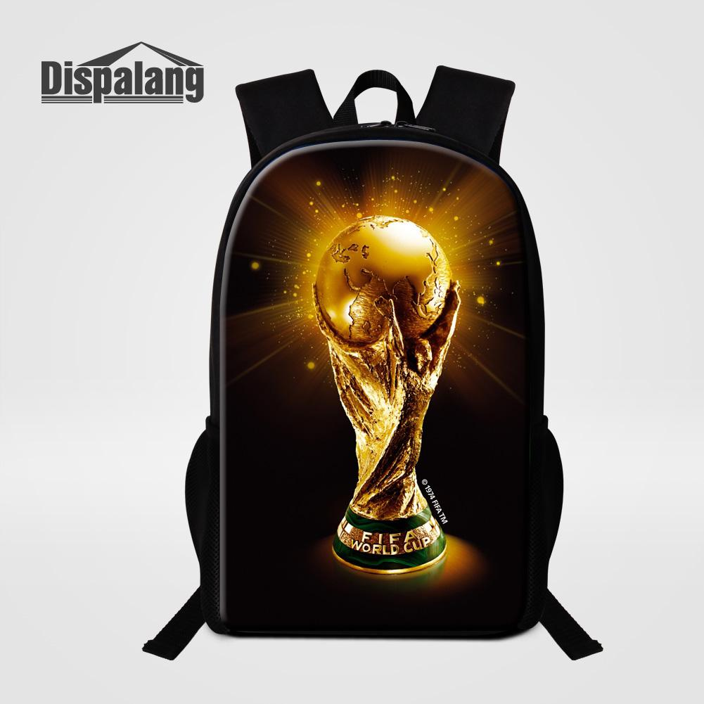 Dispalang Customize Design School Bags For Boys Mochila 3D Printing  Footballs Basketballs Backpack For Primary Students Knapsack