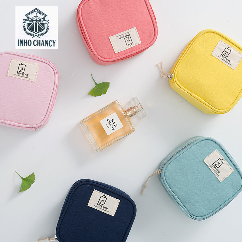 fd7f3e17d0 small fresh waterproof cotton cloth lipstick candy color packing cubes  storage bag handbags small package Mini