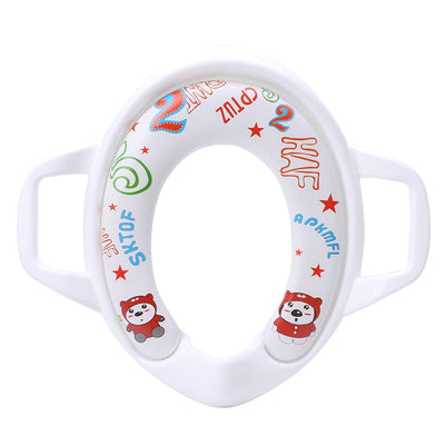 1pc baby soft toilet training seat cushion child seat with handles baby toilet seats Pedestal Pan  UpCube- upcube