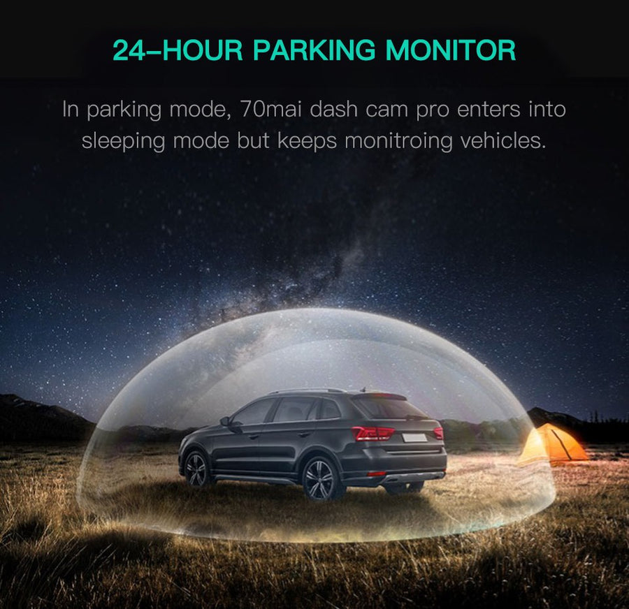 PRE-ORDER 70Mai Dash Cam Pro 2*1080P 1944P Intelligent Voice Control GPS Module Parking Monitoring for Night Version Car DVR