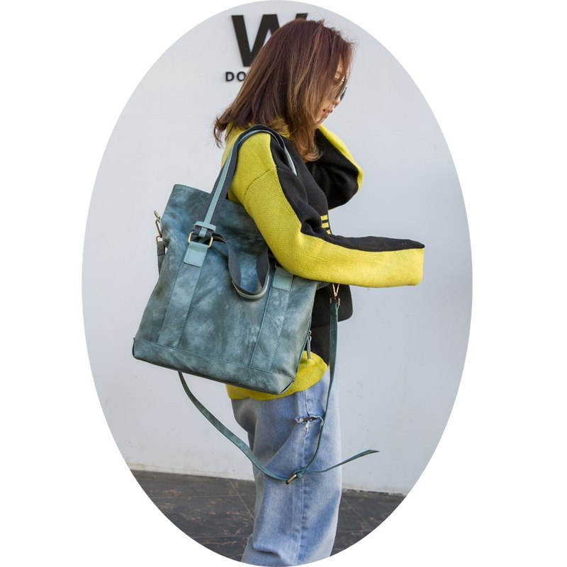 Women's large volume light sea green casual tote fashionable hand bag elegant shoulder bag lady crossbody bag LongLight