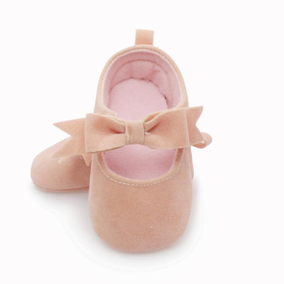 0-18M Baby Gir Princess ButterflySolid Shoes Canvas Shoes Soft Sole Prewalker Sneakers Shoes - upcube