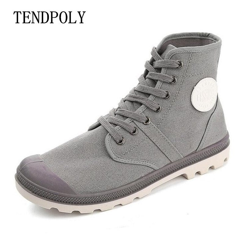 2018 new trend retro canvas men's boots spring and autumn hot sale high to help non-slip wear European style casual men's shoes