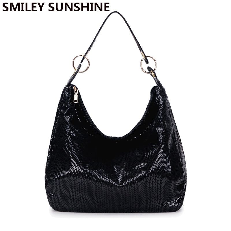 64641652a8 SMILEY SUNSHINE women handbag tote bags female classic serpentine leather  shoulder bags ladies large hobo hand