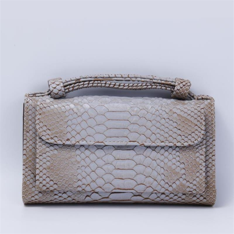 Fashion Luxury Cowhide Leather Clutch Shoulder Cross-body Bag Small Crocodile Pattern Genuine Leather Clutch Chain Women's Gift