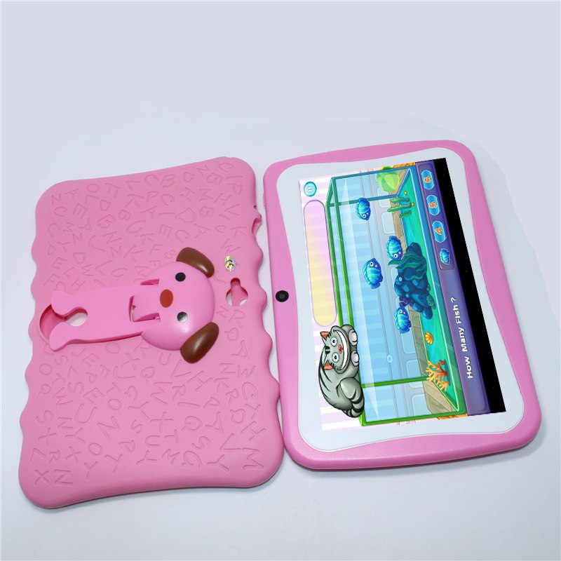 Sale!Glavey 7 inch Allwinner A33 Q8Pro Kids Tablet 1024*600 Android 4.4 Quad core 512MB+4GB Bluetooth WIFI colorful crash proof