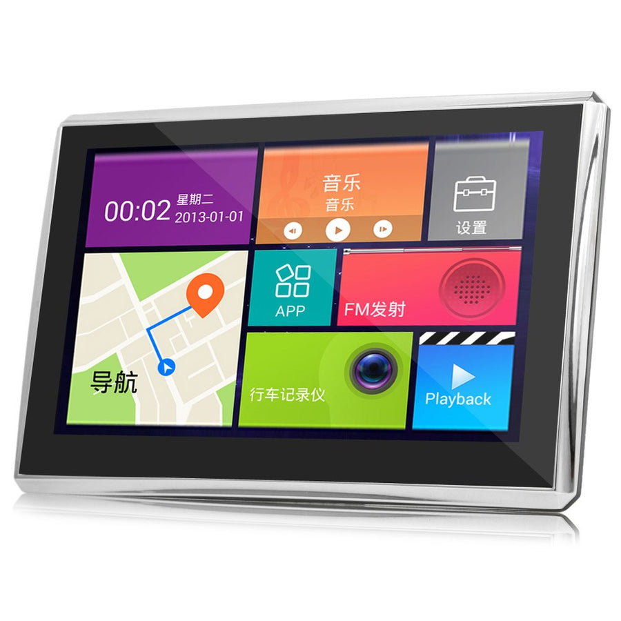 5 inch Car Tablet GPS Navigation Android 4.4 MTK8127 1080P Touch Screen 170 Degree DVR WiFi Multi-media Player with free Map