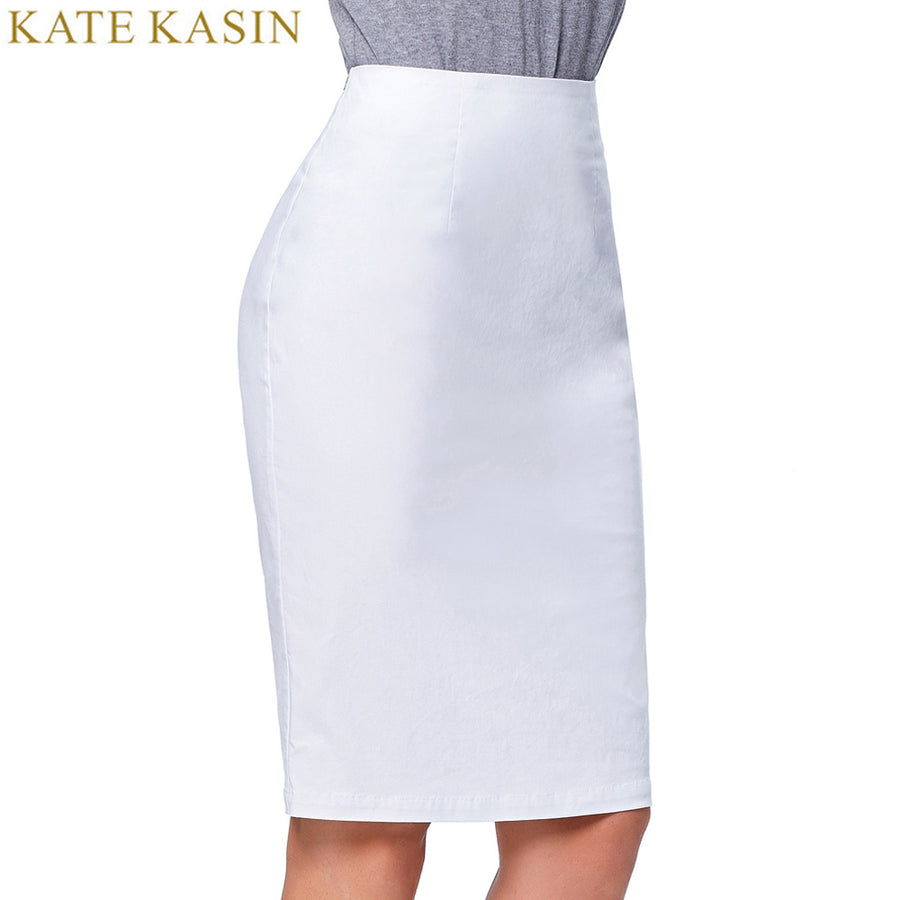 6fd7d52959 Kate Kasin Pencil Skirts Women 2017 White Black Sexy Slim Wear to Work  Party Office Bodycon