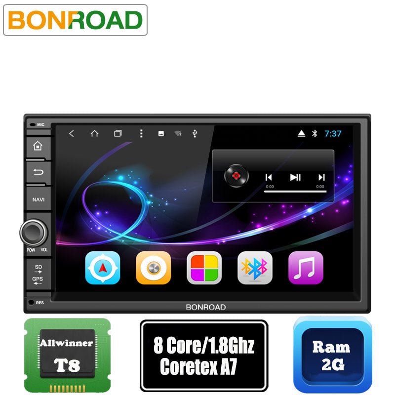 "Bonroad 7""2Din Android 7.1 Car Multimedia Video Play Tap PC Tablet For Nissan GPS Navigation Radio Stereo Video Player(No DVD)"