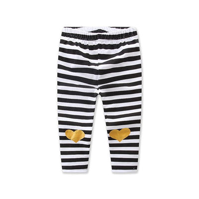 0-3Y Newborn Toddler Kids Baby Girl Clothes Long Sleeve Letter print Cotton T-shirt Tops+Striped Long Pant Legging Headband 3PCS - upcube