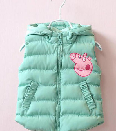 9297642d5553 Baby Boy Girl Vest Fashion Child Thickening Vest With A Hood Cotton-pa