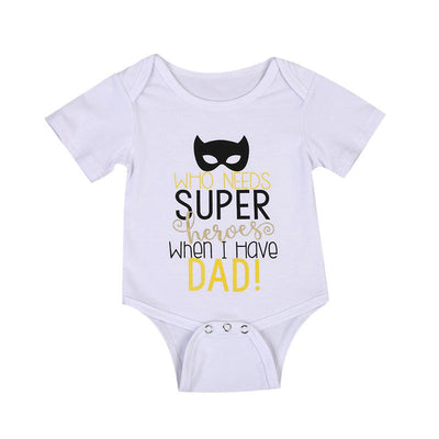 0-24M Newborn Baby Boy Girl Romper 2017 Summer Short Sleeve Super Hero Cotton Clothes Jumpsuit Outfits - upcube