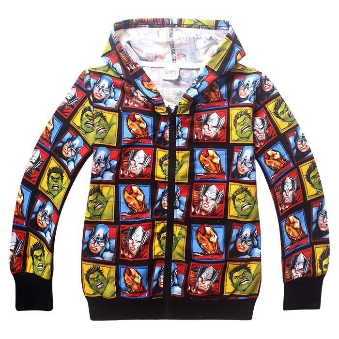 2016 New Super Hero Boys Hoodies Avengers Sweatshirts Kids Cartoon Hooded Jacket Children's Outwear Baby Clothing  UpCube- upcube
