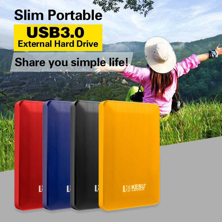KESU 2.5'' External Hard Drive Disk USB3.0 HDD 1TB 2TB Portable HDD Storage for PC, Mac,Tablet, Xbox, PS4,TV,TV box 4 Color