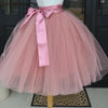 Puffy 6 Layers Tulle Skirt Pleated Tutu Skirts Womens Elastic Belt High Waist Women's Maxi Long Elegant 2018 Fashion