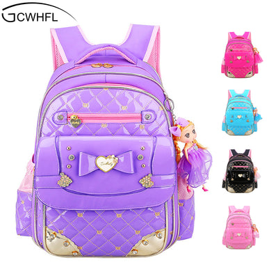 cdf4407c3c2e GCWHFL Korean Style Girl s School Bags Backpacks Children Schoolbags For Girl  Backpack Princess Kids Book School