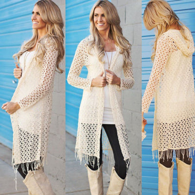 183102de28418 Hot 2017 Autumn Fashion Family Matching Mother Daughter Clothes Tassel  Women Sweaters Casual Knit Cardigan Parent Child Outfits