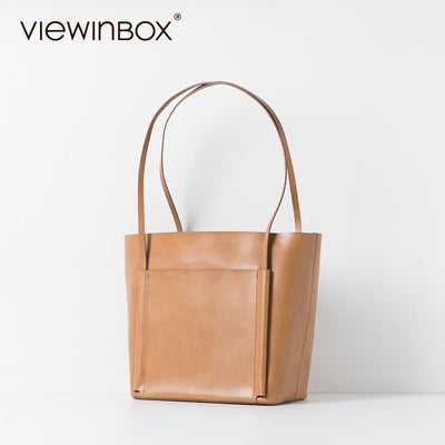 Viewinbox 2017 New Stylish High Quality Ladies Cowhide Leather Big Tote  Handbag Designer Office Bags For a616808dda638
