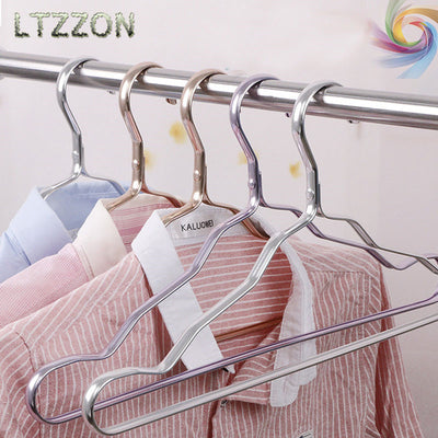 1PC Clothes Hanger Waterproof Antioxidant Durable Aluminium Alloy Drying Rack For Coat shirt Towel Scarf 5 Colors  UpCube- upcube