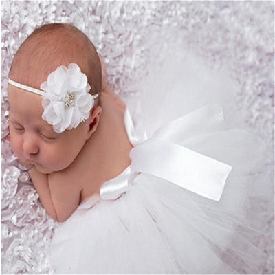 0-6M Newborn Baby Girl Tutu Skirt Headband Photo Photography Props 2PC Outfits Clothing Skirt Baby Photography Props Photo Shoot - upcube