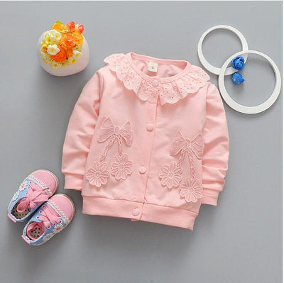 0-2 female baby new fashion autumn cotton long-sleeved clothes + free gift - upcube