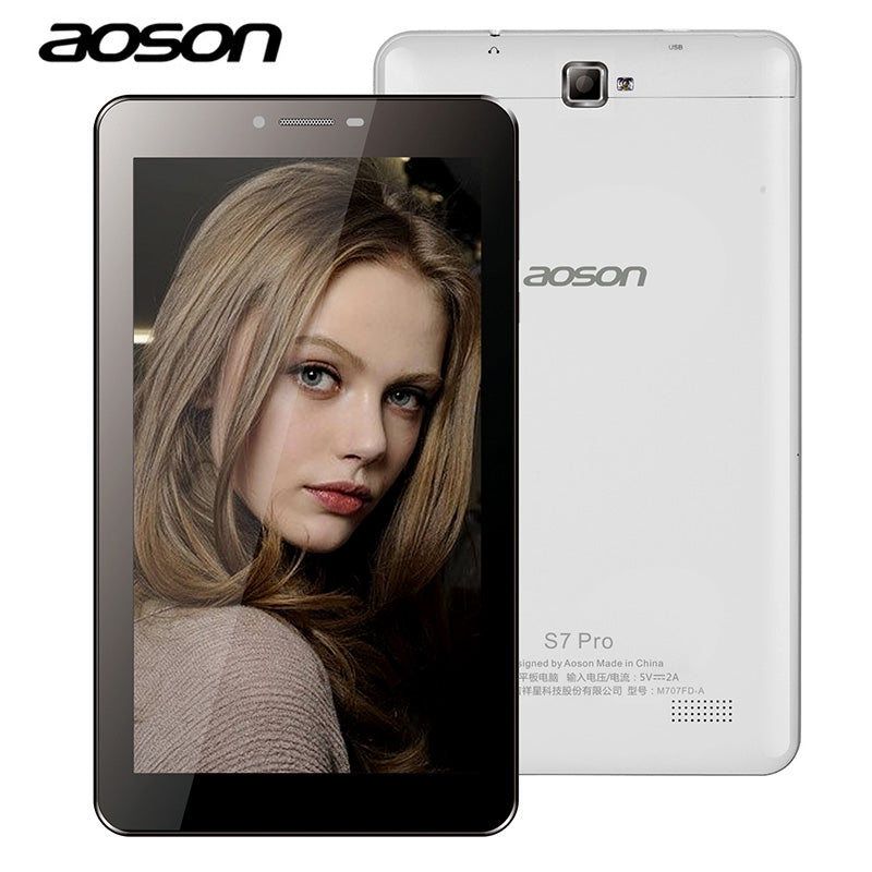 Aoson S8 PRO 7 inch4G Phablet 1GB+16GB Android 6.0 Phone Call Tablets PC Dual Camera Bluetooth wifi White Black 7.8.10 tablets