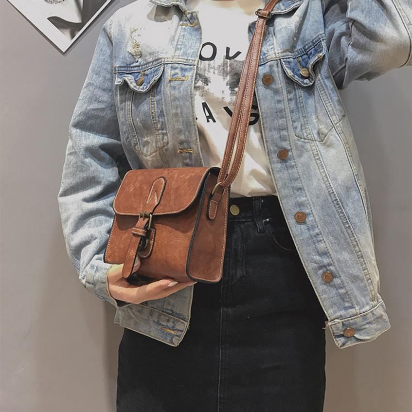 Molave Shoulder Bag new high quality Leather Girl Fashion Vintage Buckle Flap Crossbody shoulder bag women FEB27