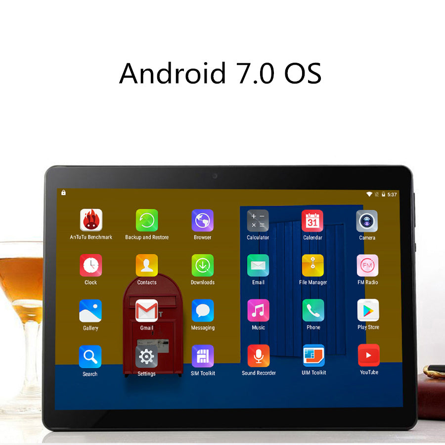 AIBOULLY Original 10.1 inch Android Tablets 7.0 OS Octa Core 4GB RAM 64GB ROM 3G Phone Call Tablet Dual SIM Camera GPS FM 9.7''
