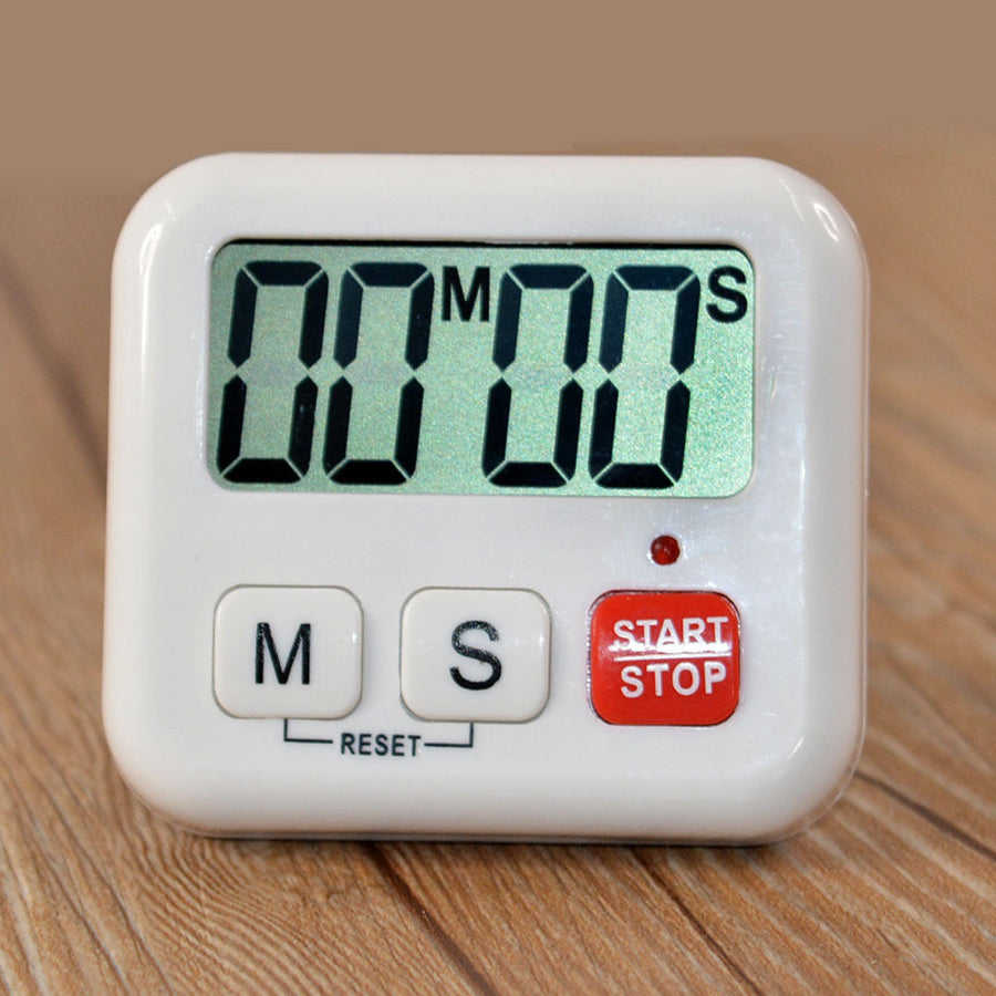 1 Piece White Kitchen Clock Digital LCD Cooking Timer Sport Count-Down Up Clock Alarm Reminder Free Shipping