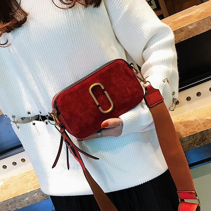 European style Retro bag Women's Designer Handbag 2018 Fashion New High-quality PU Leather Women bag Nubuck Leather Shoulder bag