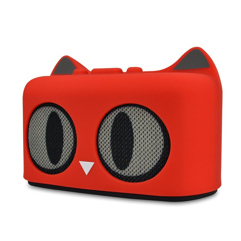 mini cute cool cat style bluetooth speaker build in radio card reader fuction for mobile phone computer tablet