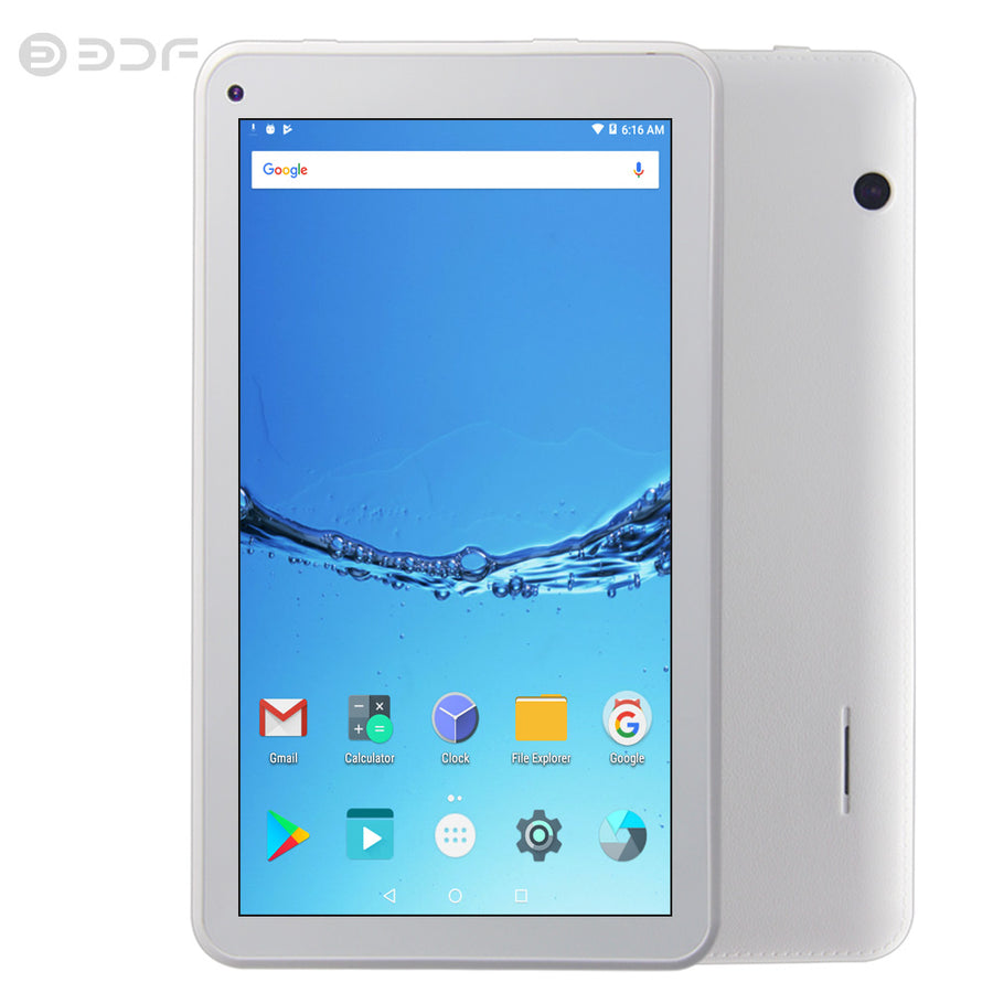 7 inch WiFi Tablets Quad Core Android 6.0 Tablet Pc 1GB RAM 16GB ROM Bluetooth IPS LCD Display Screen Tab Support Extend TF card