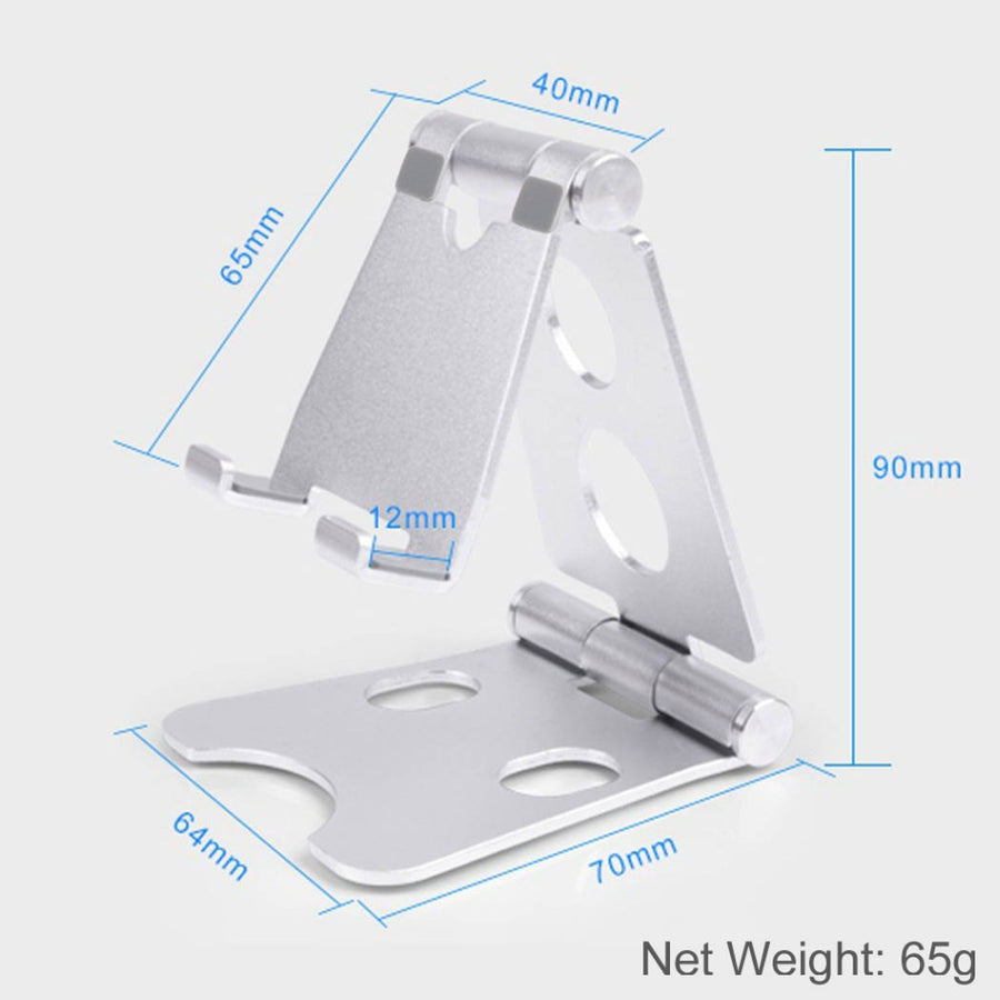 Luxury Multi-angle Adjustable Phone Holder Aluminum Metal Foldable Mobile Phone Tablet Desk Holder Stand for iPad iPhone