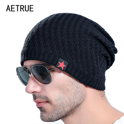 3029e572926 2017 Brand Men s Knit Hat Beanies Men Winter Hats For Men Bonnet Skullies  Caps Women Winter