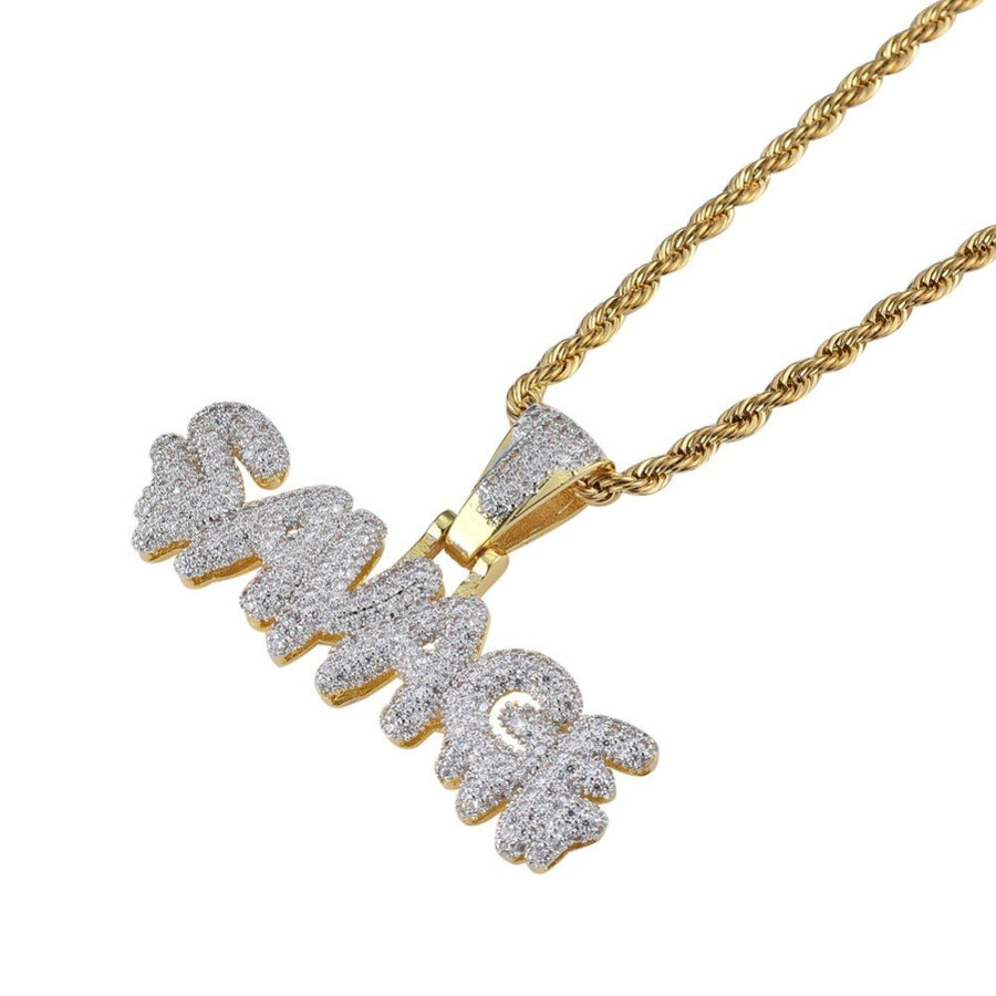 Men Hip Hop Iced out bling SAVAGE Pendant Necklaces Micro Pave Cubic Zircon Fashion PoPular Charm Necklace Hiphop jewelry gifts