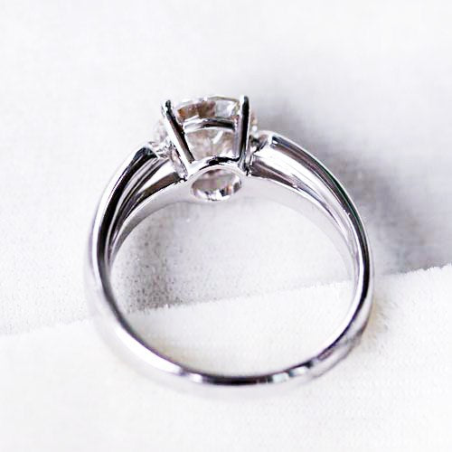 Vintage Male Ring 1.5Ct 7.5mm Test Positive Moissanite Men Ring CHARLES & COLVARD WARRANTY 925 Sterling Silver Wedding Ring