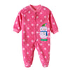 0-12M Autumn Fleece Baby Rompers Cute Pink Baby Girl Boy Clothing Infant Baby Girl Clothes Jumpsuits Footed Coverall V20C - upcube