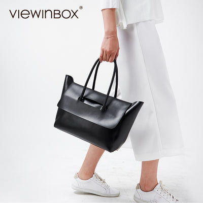 Viewinbox Handbag Women Famous Big Tote Bags Split Cowhide Leather Women  Big Capacity Handbags Bolsas De 816e983d115d2
