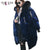 HIJKLNL Female Hooded Overcoats 2017 Winter Women 90% White Duck Down Coats Down Jacket Korean Velvet Down Parkas Long LZ547