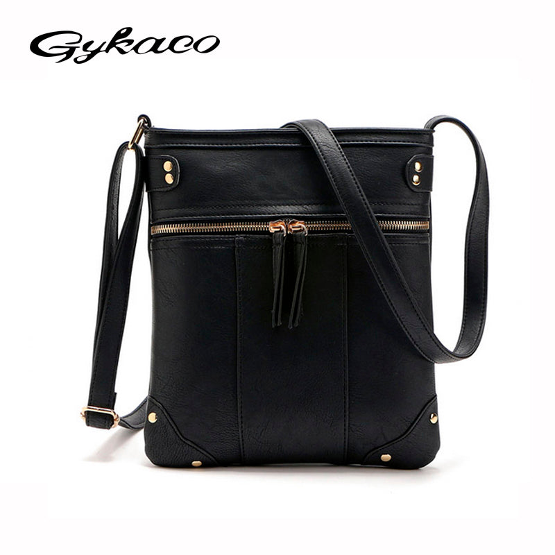 2017 Fashion Designer Women Messenger Bags PU Leather Small Crossbody  Shoulder Bags Women Black Bolsos Casual 1df0903836844