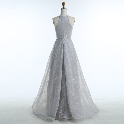 BeryLove High Low Grey Lace Prom Dresses 2018 Long Special Occasion Party  Dresses Women Formal Evening 66669d38e728