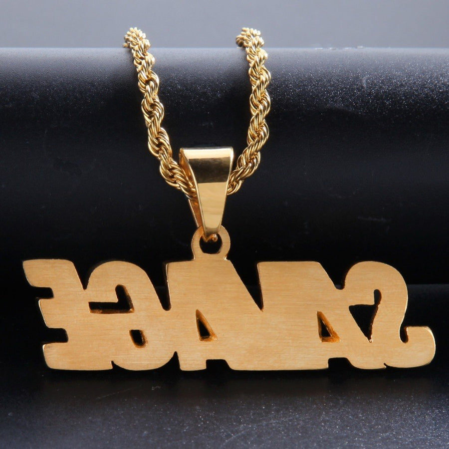 2018 New Men Hip Hop Iced out bling SAVAGE Pendant Necklaces Stainless Steel Fashion PoPular Charm Necklace Hiphop jewelry gifts