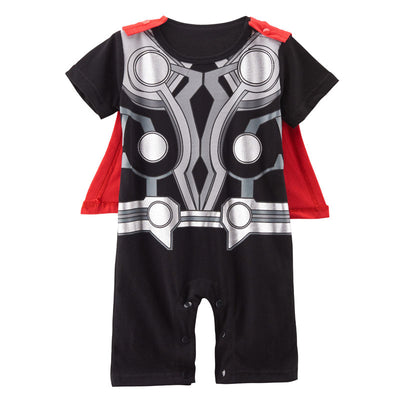 16d2d855eee0 Baby Boys Superhero Costume Romper Infant Cute Outfit Thor Pikachu Wol