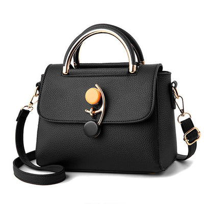 2019 New Korean Version Of The Simple Personality Lock Fashion Shoulder Portable Female Bag