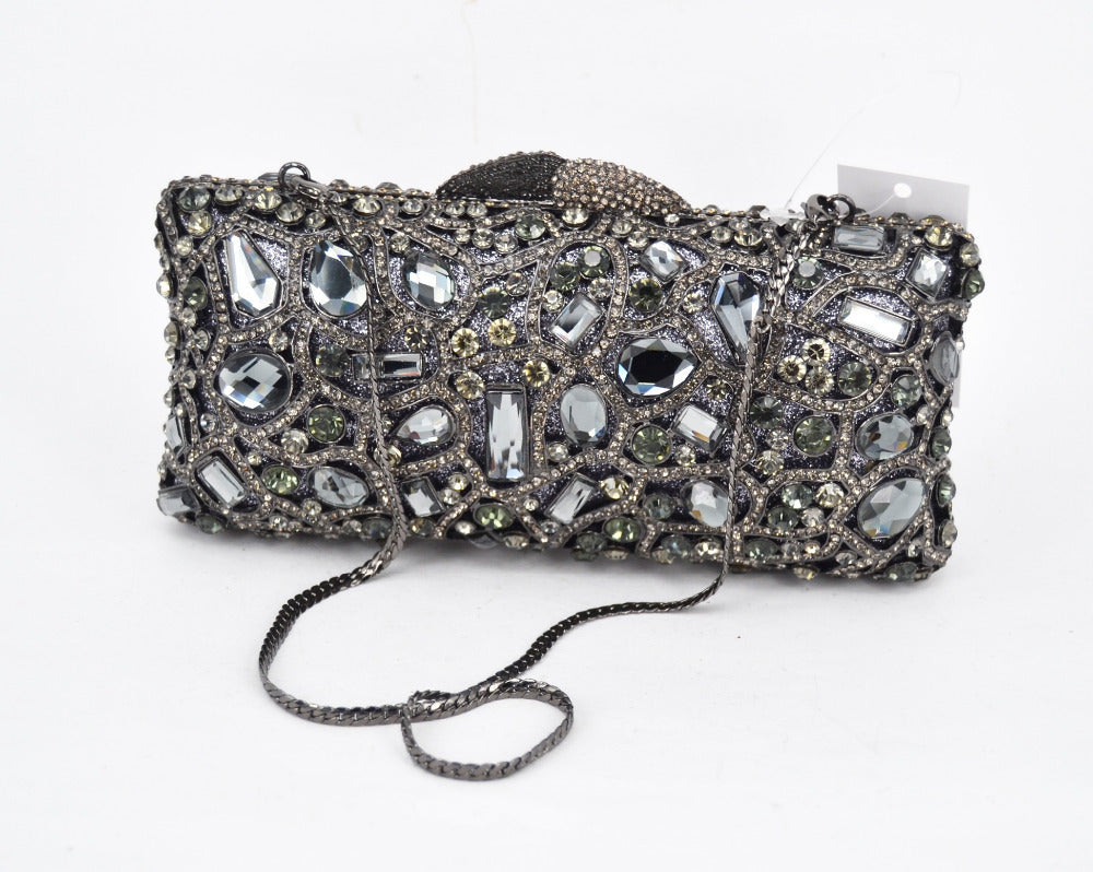 d1eee82599 LaiSC Wholesale Handcraft evening bags Luxury crystal ladies Clutch bags  formal prom handbags Bridal pochette party