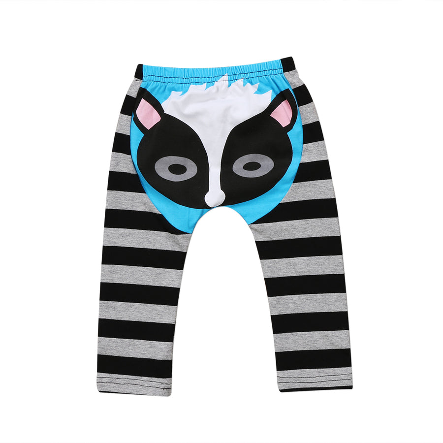 CANIS Baby Long Pants Cotton Newborn Baby Boy Girl Cartton Bottoms Striped Pants Panty Harem Pants Trousers 0-24M