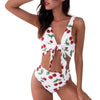 MUQGEW Hit Color Summer Women Swimwear Beachwear Floral Printed 2 Pieces Bikini Swimsuit Bathing Suit Full Of Vitality #1219